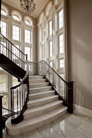Flared Staircase Staircase Traditional With Granite Stair