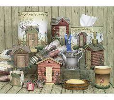 Bathroom Outhouse Decor Rustic Country Outhouse Bathroom Shower Curtain Primitive