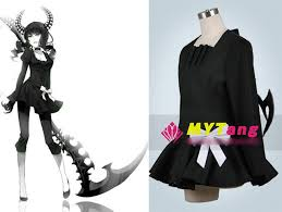 Woman Black Halloween Costume Anime Black Rock Shooter Dead Master Cosplay Costume Gothic