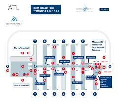 atlanta airport floor plan atlanta hartsfield jackson airport terminal map atl delta air lines