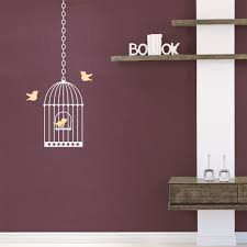 Wall Decal For Living Room Birdcage Wall Decal