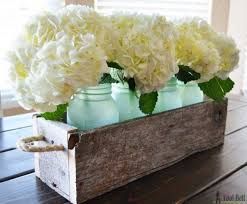 jar centerpieces barn wood jar centerpieces