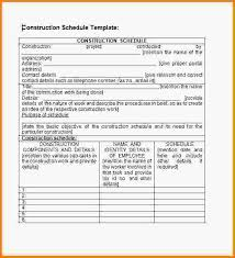 construction schedules templates construction schedule template