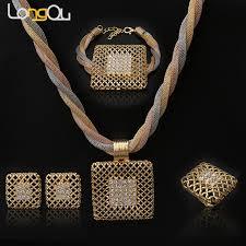 engagement jewelry sets fashionable women wedding engagement jewelry sets gold color