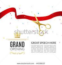 grand opening ribbon grand opening design template ribbon scissors stock vector