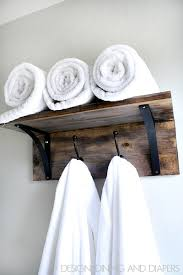 bathroom towel holder ideas 16 awesome diy towel holders to spruce up your bath