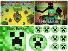 minecraft edible cake topper edible cake images ebay