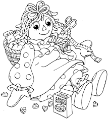 raggedy ann and raggedy project for awesome raggedy ann coloring