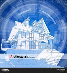 blueprint house plans architecture design blueprint 3d house plan blue technology radial