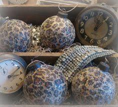 6 leopard ornaments tree by simpleofferings