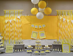 yellow and gray baby shower baby shower yellow gray white shower catch