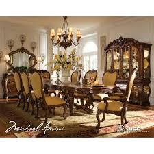 Michael Amini Dining Room Sets Aico Palais Royale 8pc Rectangular Dining Room Set In Rococo