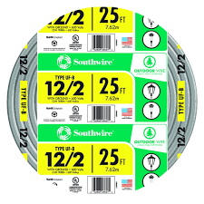 Southwire In Wall Digital 7 by Southwire 25 Ft 12 2 Gray Solid Cu Uf B W G Wire 13055921 The