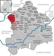 Black Forest Germany Map Trossingen Wikipedia