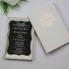 engraved wedding invitations 30 personalized luxury customized acrylic wedding invitation cards
