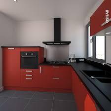 Cuisine Style Industrielle by Cuisine Moderne Rouge Et Noir Collection Avec Cuisine Style