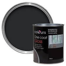 Black Exterior Gloss Paint - colours one coat interior u0026 exterior black satin wood u0026 metal