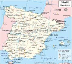 cities map cities in spain map of spain cities
