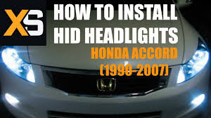 2004 honda accord headlights diy hid xenon install honda accord 1990 2007