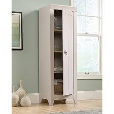 Sauder Homeplus Storage Cabinet Sauder Adept Cobblestone Storage Cabinet 418085 The Home Depot