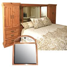 Mirror Bed Frame King Size Boyd Storage Headboard Bed Frame And Vanity Mirror Ebth