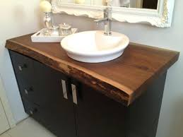 Wooden Vanity Units For Bathroom Wood Vanity Top Sand Granite Countertop With Rounded Undermount
