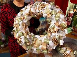 ribbon wreaths make a ribbon wreath hgtv