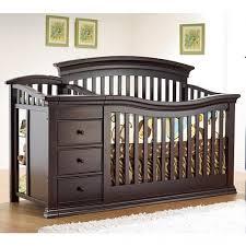 Mini Crib With Attached Changing Table Sorelle Verona 4 In 1 Convertible Crib Changer Espresso Mini