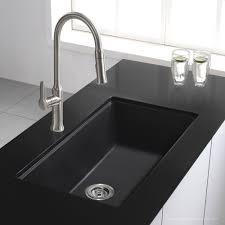 Undermount Granite Kitchen Sink Kraus 31 Inch Undermount Single Bowl Black Onyx Granite Kitchen