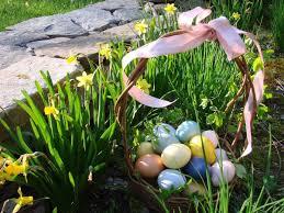 Flower Gardens Wallpapers - flower eggs daffodils easter basket spring flowers garden
