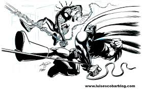 superhero versus superhero luis u0027 illustrated blog