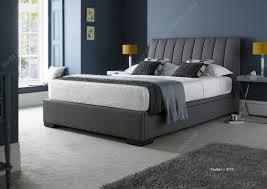 kaydian lanchester 4ft6 double grey fabric ottoman storage bed by