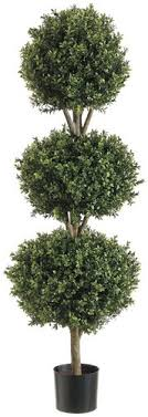 one 56 inch outdoor artificial boxwood topiary tree