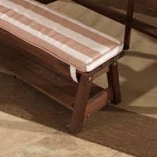 outdoor table u0026 bench set with cushions u0026 umbrella oatmeal
