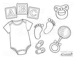 baby onesie free printable coloring gender reveal party