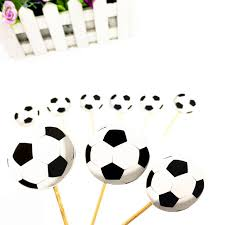 football cake toppers 20pcs football topper baby shower party supplies football cake
