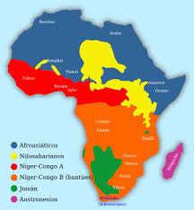 mapa de africa lenguas de áfrica la enciclopedia libre