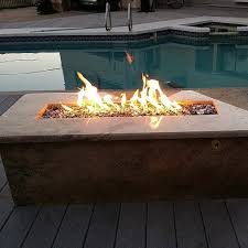 Outdoor Firepit Kit D I Y 26 Propane Trough Wall Table Burner Pit