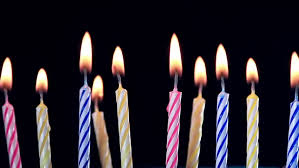 birthday candle birthday candles burning time lipse stock footage 17017855