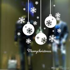 merry christmas wall art removable home vinyl window wall stickers merry christmas wall art removable home vinyl window wall stickers decal decor snowflake and lantern wall murals decoration
