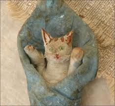 antique ornament swaddled kitten at christmas4ever