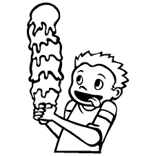 five stack of ice cream coloring page coloring sky