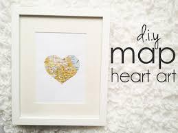 Heart Map Cinsarah Diy Map Heart Art