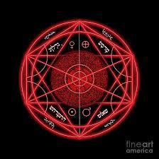 satanic art fine art america satanic digital art occult magick symbol on red by pierre blanchard by pierre blanchard