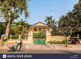 cambodia phnom penh french colonial house in street 178 stock