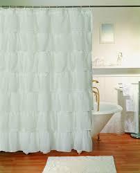 Gray Ruffle Shower Curtain Ruffle Flower Shower Curtain White Flower Power Shower Curtain
