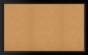 amazon com the board dudes black framed cork board 35
