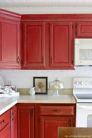 Painted Cabinets Kitchen Best 25 Red Cabinets Ideas On Pinterest Red Kitchen Cabinets