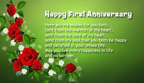 Happy Wedding Anniversary Wishes For First Wedding Anniversary Wishes To Sister And Brother In Law