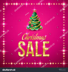 design christmas sale template gold text stock vector 217291921